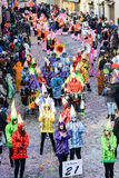 People at the carnival of Tesserete on Switzerland Royalty Free Stock Image