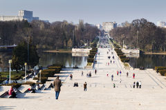People in the park. People in carol park, bucharest Royalty Free Stock Photo