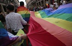 LGBT pride celebrations in mallorca stock photos