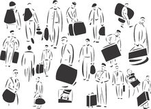 People Carrying Cases. 20 themed EPS images of carrier people. The number of vector nodes is absolute minimum. The images are very easy to use and edit and are Royalty Free Stock Photos