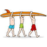 People Carrying Surfboard Stock Photos
