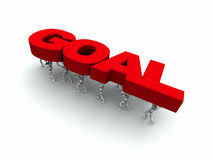 People Carrying the Word 'GOAL' Red Royalty Free Stock Images