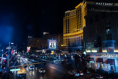 People and cars on the strip Royalty Free Stock Photos