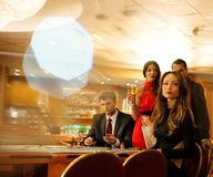 People in a casino Royalty Free Stock Images