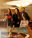 People in a casino Stock Photo