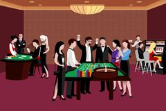 People In Casino Illustration Stock Photography