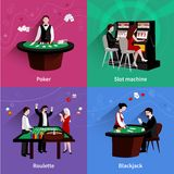 People In Casino Set Stock Photo