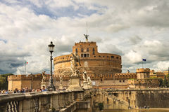 People in the Castel Sant'Angelo, Rome, Italy Stock Images