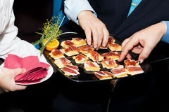 People on a Catering Stock Photo