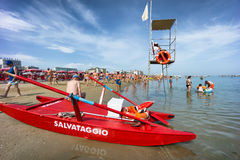 People on Cattolica Beach, Emilia Romagna, Italy Stock Photography