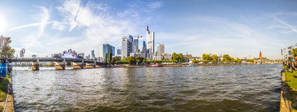 People celebrate 25th anniversary of German Unity in Frankfurt Royalty Free Stock Images