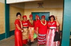 People celebrate arrival of Fuifui Moimoi on Vavau island in Tonga Stock Images