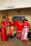 People celebrate arrival of Fuifui Moimoi on Vavau island in Tonga Stock Photos