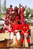 People celebrate arrival of Fuifui Moimoi on Vavau island in Tonga Royalty Free Stock Images