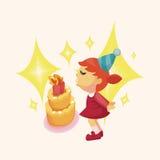People celebrate the birthday theme elements. Vector illustration file Stock Photo