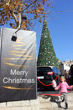 People celebrate Christmas Royalty Free Stock Photos