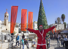 People celebrate Christmas Stock Images