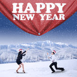 People celebrate christmas and new year Royalty Free Stock Photos