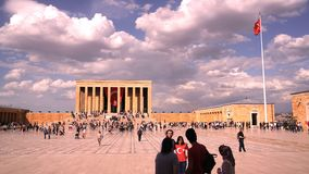 People celebrate May 19 Commemoration. Ankara/Turkey - May 19 2018: People celebrate May 19 Commemoration of Ataturk, Youth and Sports Day at Anitkabir, Mustafa stock photos