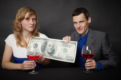 People celebrate reception of award Stock Images