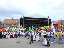 Silute town celebrate 507 years existence day, Lithuania Stock Photo