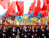 People celebrate the Spring Festival parade Stock Image