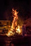 People celebrate St John's Eve Stock Photography