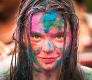 Holi Festival of Colors in Kuala Lumpur Royalty Free Stock Photo