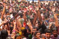 Holi Festival of Colors in Kuala Lumpur Royalty Free Stock Images