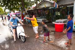 People celebrated Songkran Festival Royalty Free Stock Photo