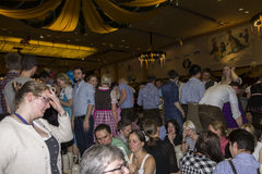 People celebrating on the famous Munich Strong Beer Festival. Stock Image