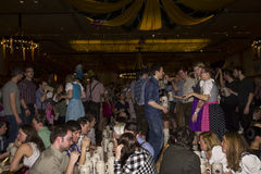 People celebrating on the famous Munich Strong Beer Festival. Royalty Free Stock Photography