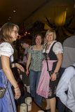 People celebrating on the famous Munich Strong Beer Festival. Royalty Free Stock Image