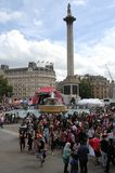People celebrating the festival of Eid in Trafalgar Square Royalty Free Stock Photography