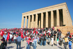 People celebrating the foundation of the Republic of Turkey Stock Photo
