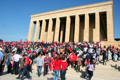 People celebrating the foundation of the Republic of Turkey. Stock Photo