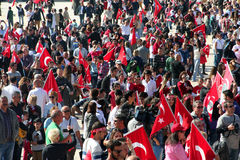 People celebrating the foundation of the Republic of Turkey Royalty Free Stock Photos