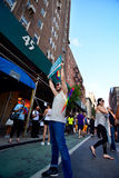 People celebrating gay marriage rights at Stonewall Inn New york Royalty Free Stock Photos