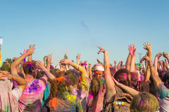 People celebrating Holi Festival of Colors. Stock Photography