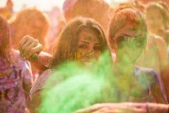 People celebrating Holi Festival of Colors. Royalty Free Stock Photo