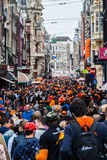 People celebrating at Koninginnedag 2013 Royalty Free Stock Photo
