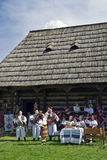 People celebrating in Maramures Royalty Free Stock Photography