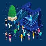 People Celebrating New Year Illustration Royalty Free Stock Photography