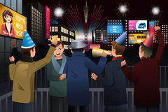 People Celebrating New Year Stock Photography
