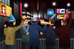People Celebrating New Year Stock Photography