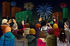 People Celebrating New Year Royalty Free Stock Photography