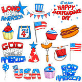 People celebrating 4th of July Stock Images