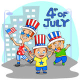 People celebrating 4th of July Stock Image