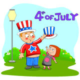 People celebrating 4th of July Royalty Free Stock Photo
