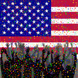 People celebrating USA day Stock Photography
